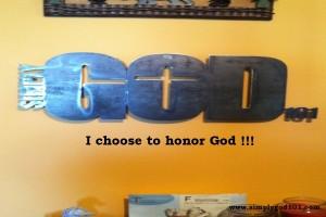 Honoring God
